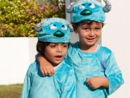 Two mini monsters were sure to give everyone a scare!